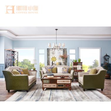 家博猫.咖啡小屋/简美风格/客厅KS2021布艺123组合沙发
