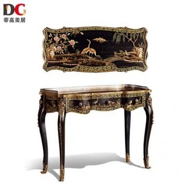 蒂高美居T-DC-936古典复古欧式玄关台别墅会所客厅装饰桌子手工彩绘家具