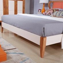 良匠缘.北美风情 H2002# 北欧田园全实木婚床 地中海韩式双人床1.8米布艺床