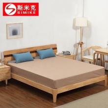 斯米克 SMK8808 北欧纯实木床1.5米1.8米双人床 现代简约卧室床小户型原木床