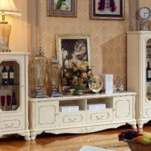 客厅系列/FA-602电视柜(木面) 2.4米/路易威莎/法式风格/厂家直销