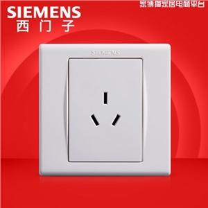 10A三孔插座——西门子开关开关面板西门子开关插座品宜雅白10A三孔电源插座面板